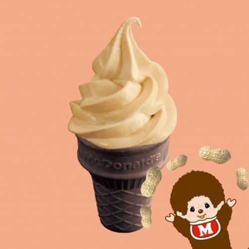 麦当劳花生口味圆筒冰淇淋图片