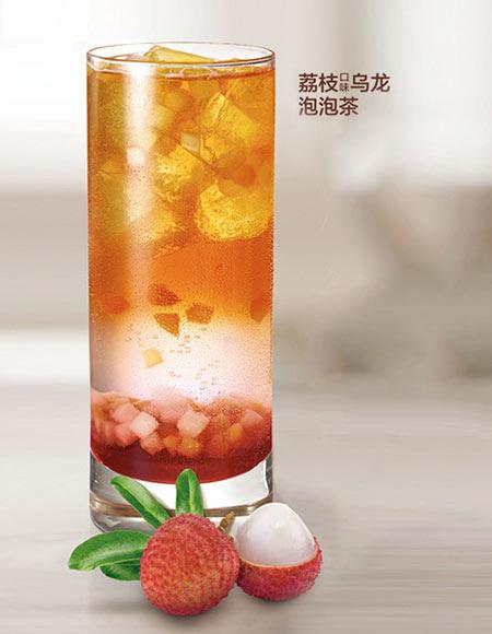 麦当劳荔枝口味乌龙泡泡茶