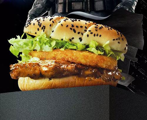 麦当劳暗夜黑胡椒鸡腿堡