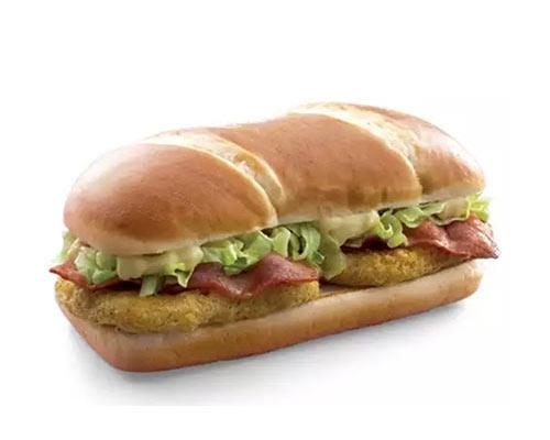 麦当劳芝足火腿加长堡