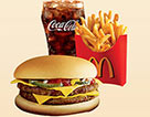 麥當勞雙層吉士漢堡套餐