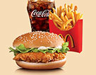 麥當勞麥辣雞腿漢堡套餐