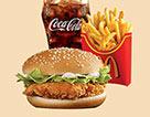 麥當勞麥辣雞腿漢堡超值套餐(大)