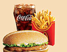 麥當勞原味板燒雞腿堡超值套餐(大)
